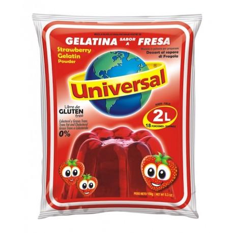 Gelatina Sabor a Fresa Universal 250g
