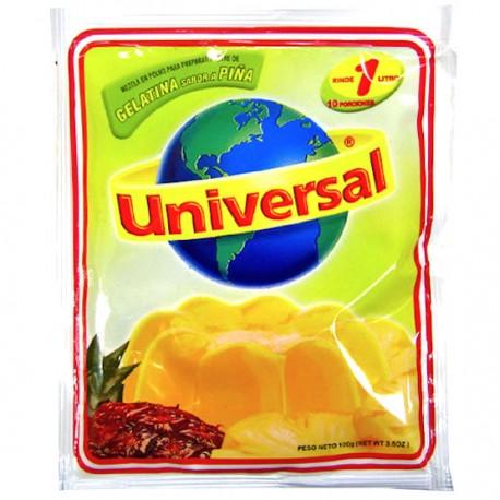 Gelatina Sabor a Piña Universal 250g