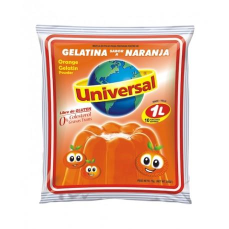 Gelatina Sabor a Naranja Universal 250g